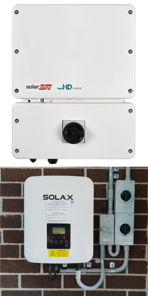 Solaredge and solax inverters